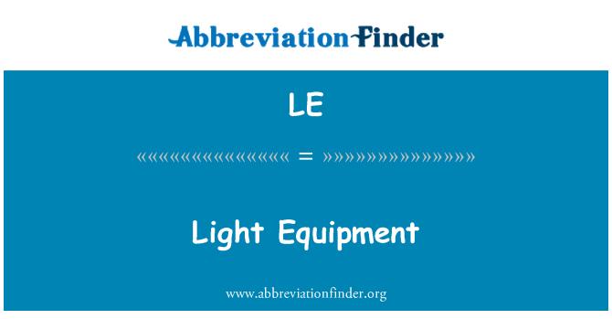 LE: Light Equipment