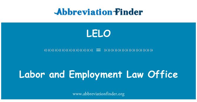 LELO: Emek ve istihdam Hukuk Bürosu