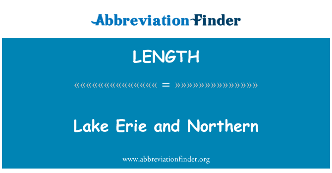 LENGTH: Lago Erie y el norte