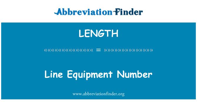 LENGTH: Número de equipos de línea
