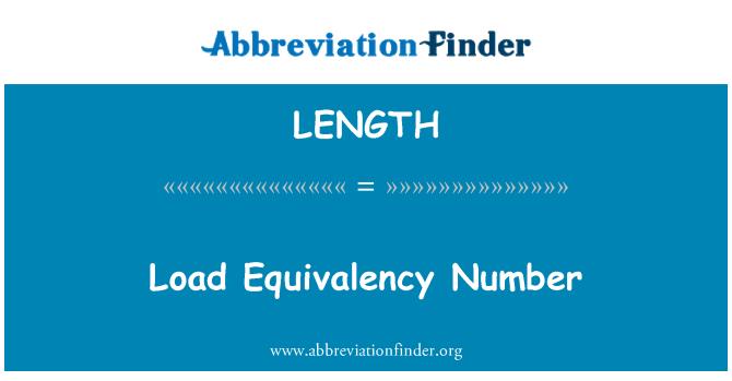 LENGTH: Apkrovos ekvivalentiškumo numeris