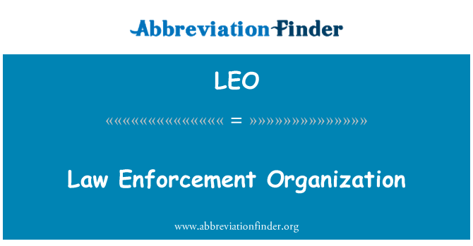 LEO: Law Enforcement Organization