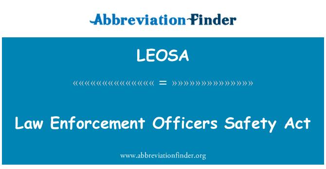 LEOSA: Bezpečnostní důstojníci vymáhání zákona