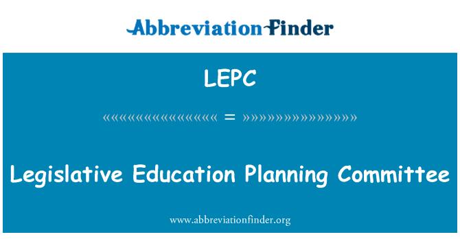 LEPC: Comité de planificación de educación legislativa