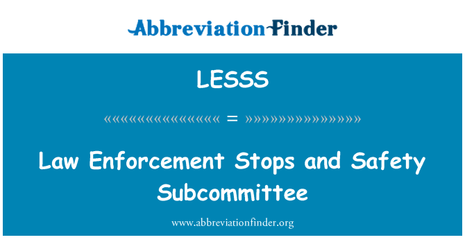LESSS: Law Enforcement Stops and Safety Subcommittee