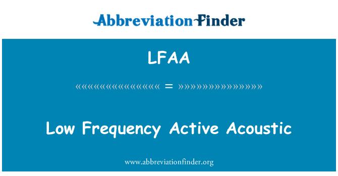 LFAA: Düşük frekans etkin akustik