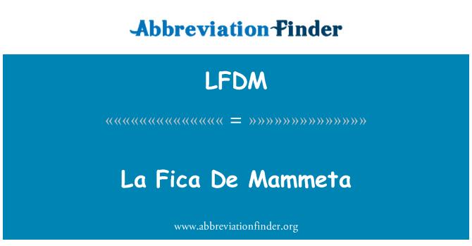 LFDM: La Fica De Mammeta