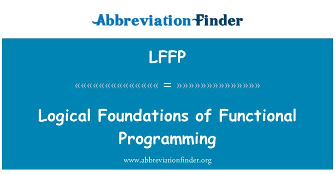 LFFP: Fundamentos lógicos de la programación funcional