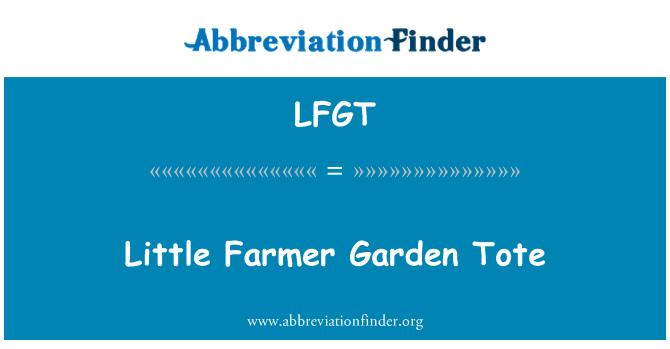 LFGT: Küçük çiftçi Bahçe Tote