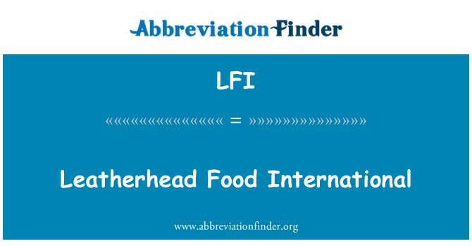 LFI: Leatherhead Food International