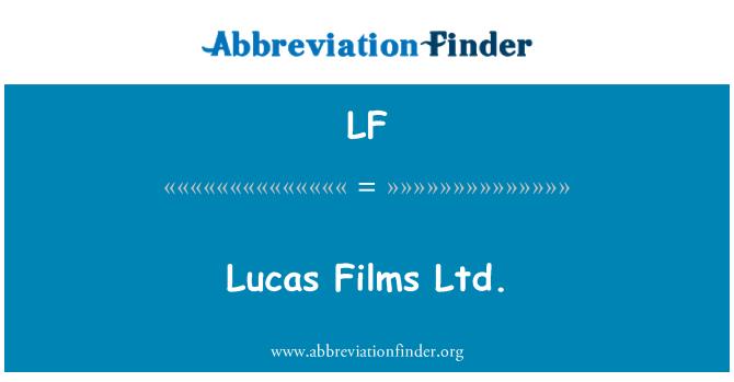 LF: Lucas Films Ltd.