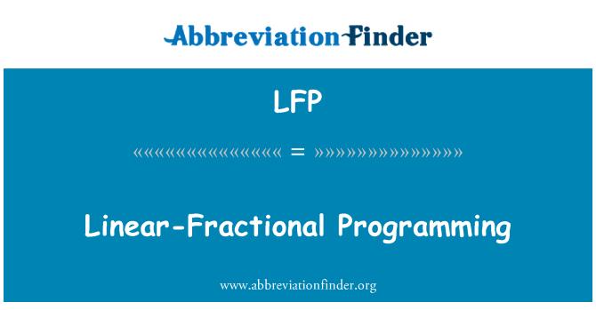 LFP: Linear-Fractional Programming