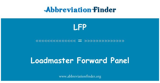LFP: Loadmaster Forward Panel