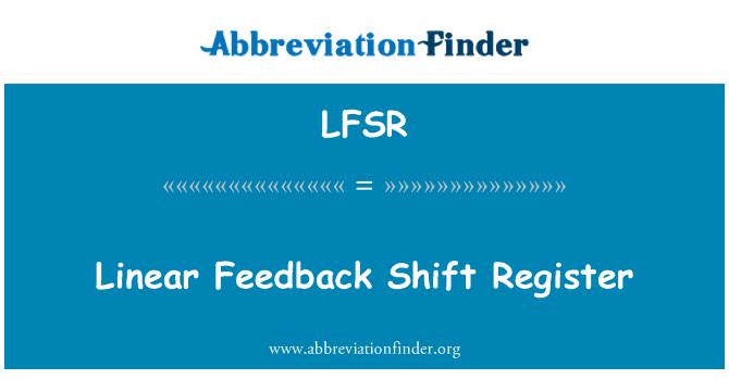 LFSR: Lineaarne tagasiside vahetustega Registreeru