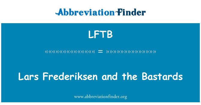 LFTB: Lars Frederiksen y los cabrones