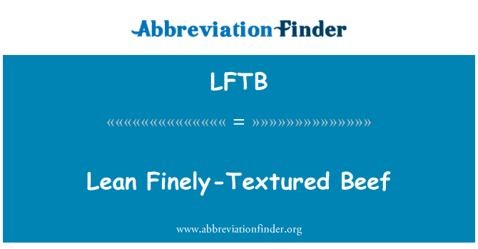 LFTB: Carne magra con textura finamente