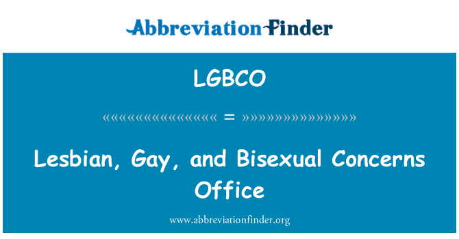 LGBCO: Lesbian, Gay, and Bisexual Concerns Office