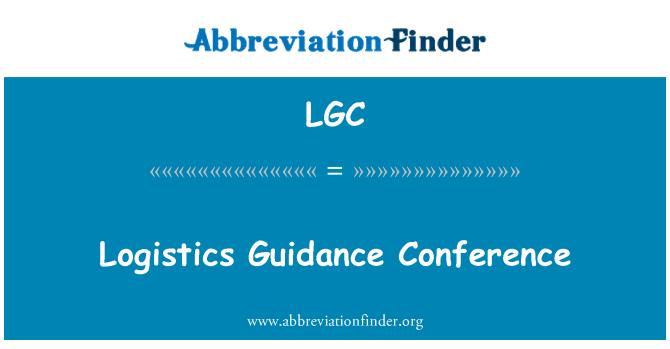 LGC: Logistics Guidance Conference