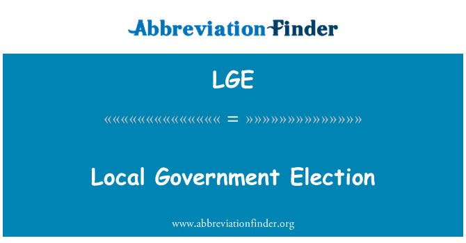 LGE: Local Government Election