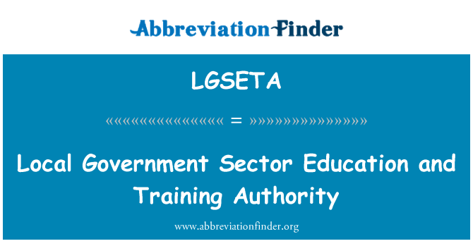 LGSETA: Local Government Sector Education and Training Authority