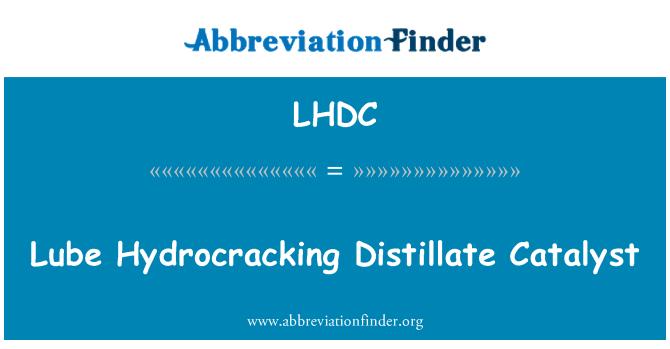 LHDC: Lubricante hidrocraqueo catalizador del destilado