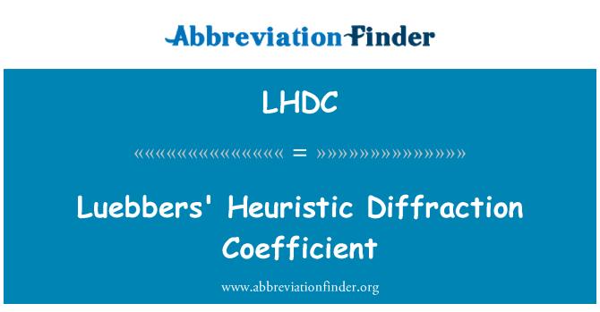 LHDC: Coeficiente de difracción heurístico de Luebbers