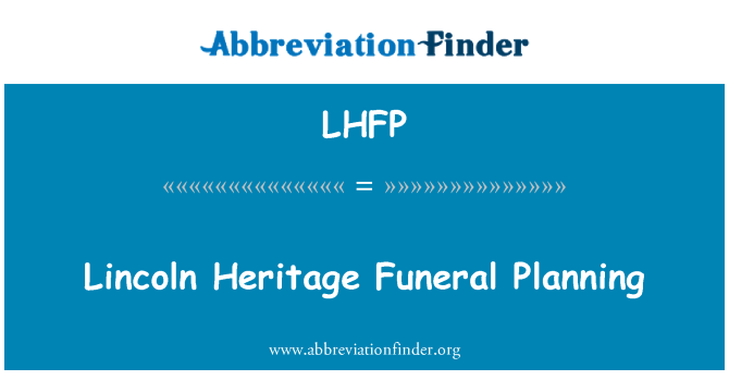 LHFP: Lincoln Heritage Funeral Planning