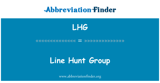 LHG: Line Hunt Group