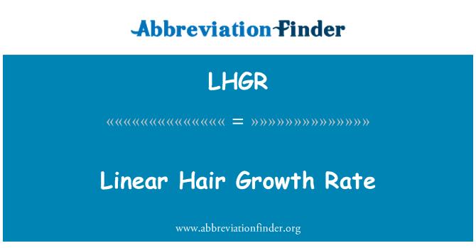 LHGR: Linear Hair Growth Rate