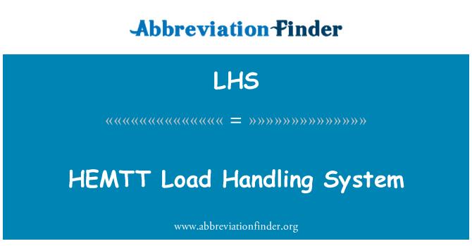 LHS: HEMTT Load Handling System