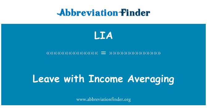 LIA: Leave with Income Averaging