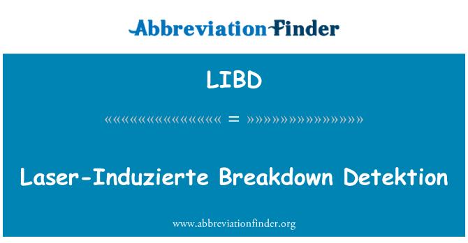 LIBD: Laser-Induzierte jaotus Detektion