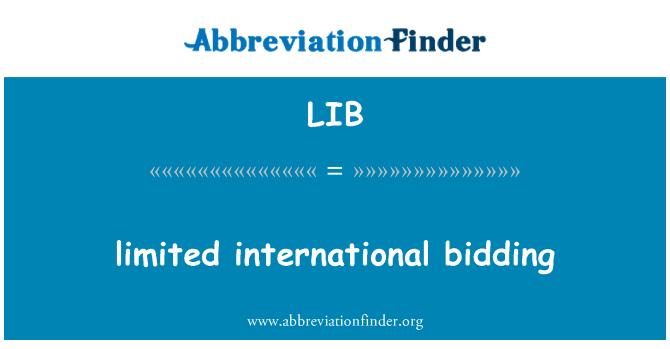 LIB: limited international bidding