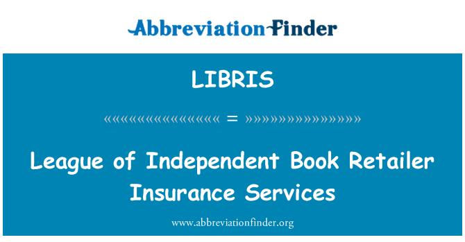 LIBRIS: 联盟的独立的书籍零售商保险服务