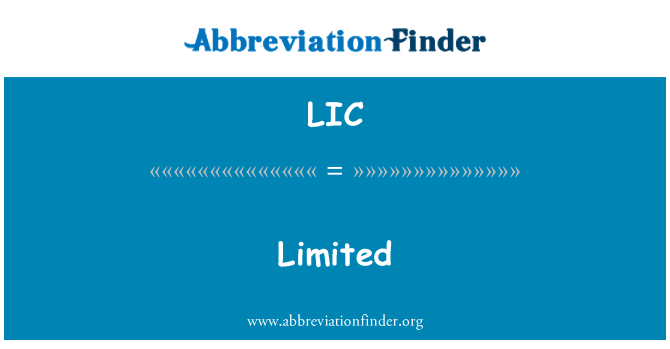 LIC: 有限公司