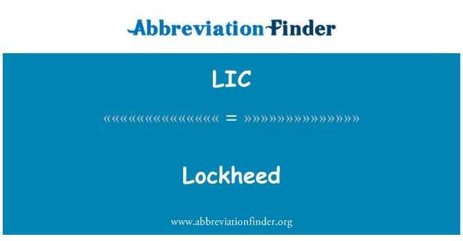 LIC: 洛克希德公司