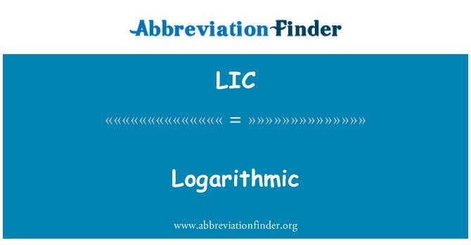 LIC: 对数