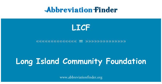 LICF: Long Island Toplum Vakfı