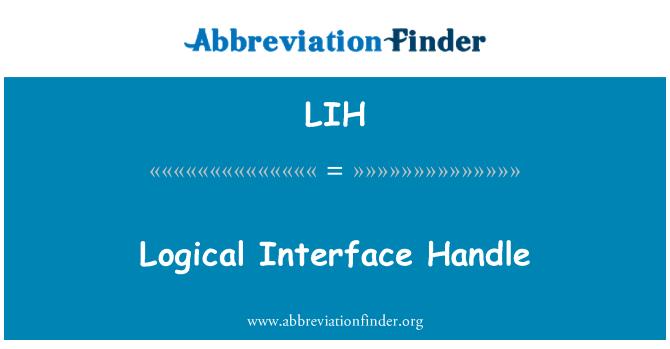 LIH: Logical Interface Handle
