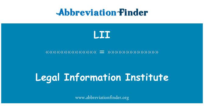 LII: Legal Information Institute