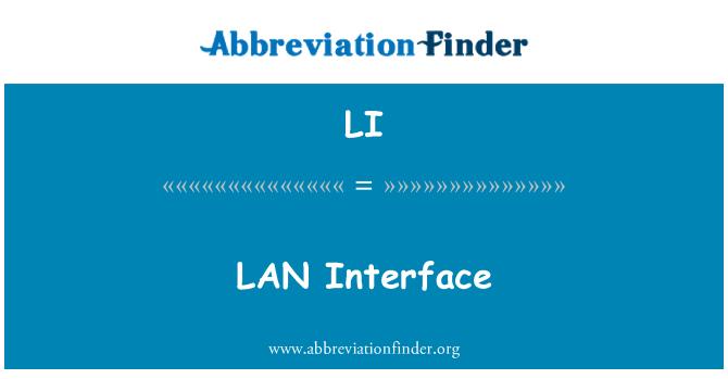 LI: LAN Interface