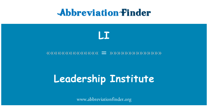 LI: Leadership Institute