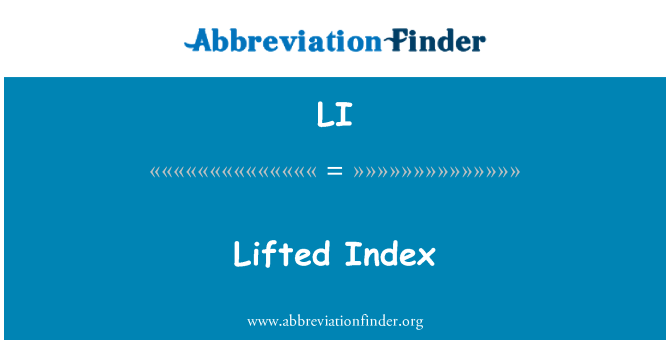 LI: Lifted Index