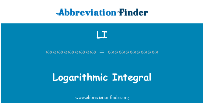 LI: Logarithmic Integral