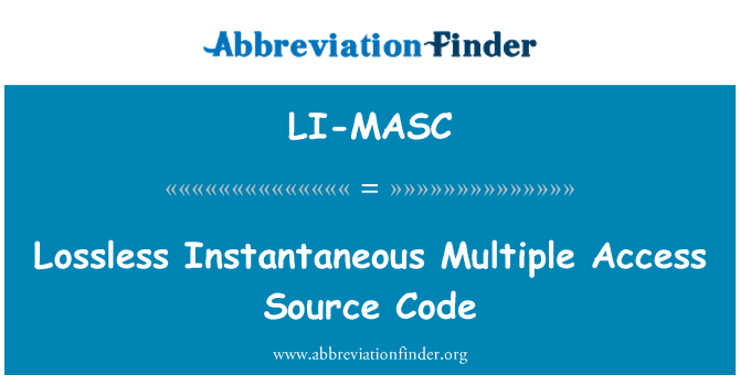 LI-MASC: Lossless Instantaneous Multiple Access Source Code