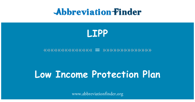 LIPP: Low Income Protection Plan