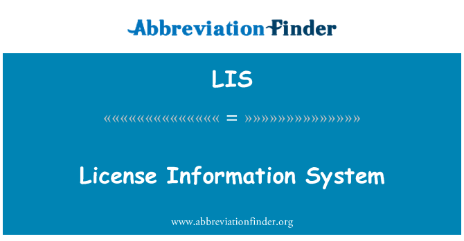 LIS: License Information System