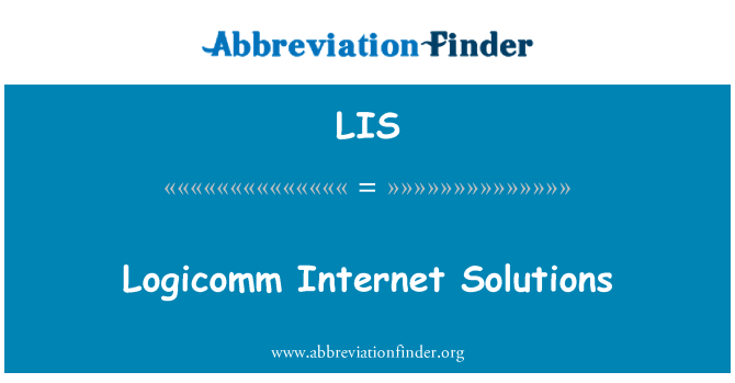 LIS: Logicomm Internet Solutions