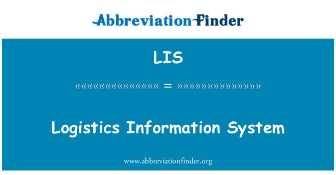 LIS: Logistics Information System