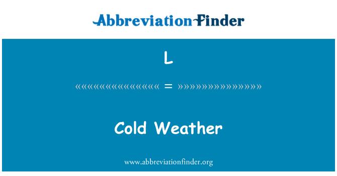 L: Külma ilmaga
